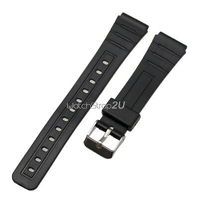 Silicone Rubber Pin Buckle Wrist Watch Band Strap Black 12 mm 16 mm 18mm