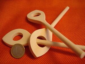 3x-Mini-Cuchara-de-madera-con-agujero-16cm-Mezcladora-LIBRE-CASA