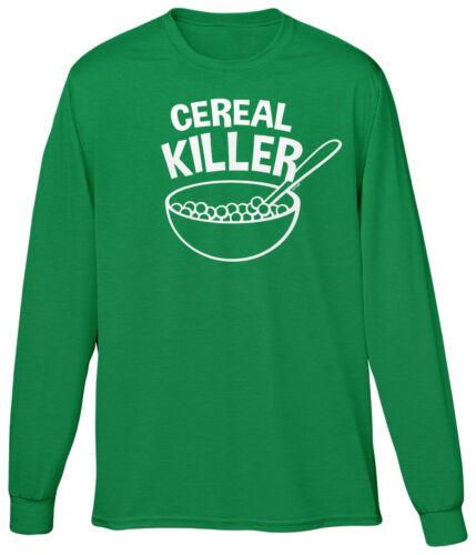 Cereal Killer Funny Humor Joke Word Play Pun Parody Laugh Meme Mens LS Tee