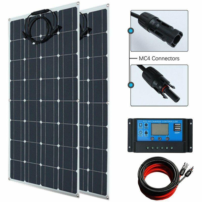 100W Solar Panel Kit Monocyrstalline 12V Wohnwagen Boote Wohnmobile Schuppen