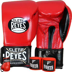 Cleto-Reyes-Extra-Padding-Boxing-Gloves-with-Forza-Handwraps-and-Keychain