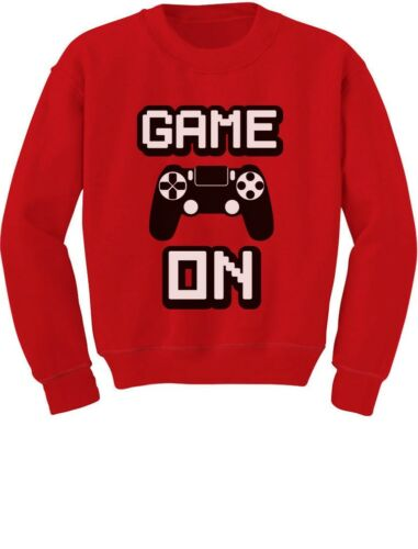 Gaming Gamer Youth Kids Sweatshirt Awesome Gift For Gamers Game On