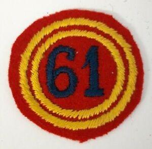 insigne brodé du 61e Régiment d'Artillerie pour calot