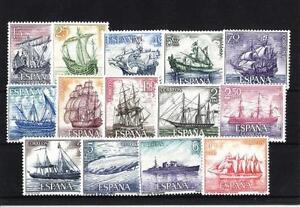 1964-Homenaje-a-la-Marina-Espanola-Edifil-1599-1612-MNH