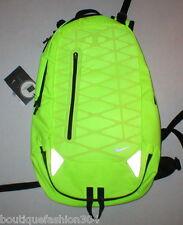NWT New Nike Neon Bright Yellow Black Backpack Rain Wet Computer Run Hike School