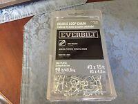 Everbilt 803072 Double Loop Chain 3 X 15 Ft. 90 Lb. Capacity Zinc Plated