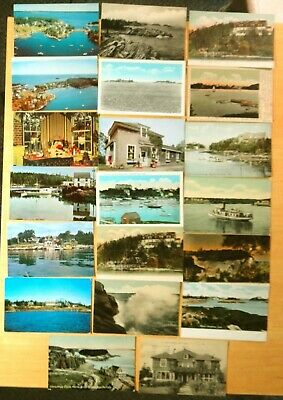 20 Postcards All From Christmas Cove South Bristol Maine Me 1906 1966 Holly Inn Ebay