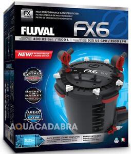 FLUVAL FX6 CANISTER FILTER EXTERNAL FILTRATION MEDIA FISH TANK AQUARIUM MARINE
