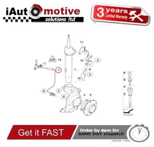 Bmw 1 /& 3 Series Front Wheel ABS Speed Sensor E81 E90 E91 34526760424 2005//2014
