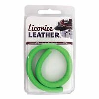 Licorice Leather Genuine Real Leather Cord 10 X 7mm 25cm Green