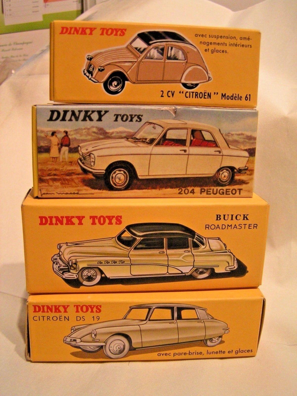 DINKY TOYS ( PAR NOREV) 1 43  -  LOT N° 3  DE VOITURES (4) ENBOÎTES