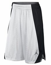 NIKE JORDAN FLIGHT KNIT BASKETBALL SHORTS WHITE BLACK  LARGE  L  $45