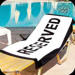 Large Fun RESERVED BATH, BEACH, POOL TOWEL Save that sun lounger bed or Chair UK