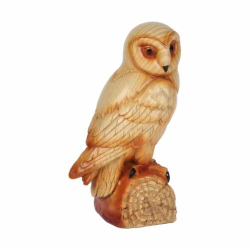 Naturecraft Wood Effect Owl Figurine Ornament 69278