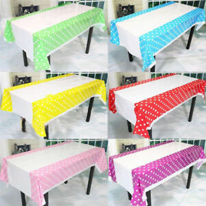 Charmant Image Is Loading New 108 180CM Polka Dots Party Plastic Table