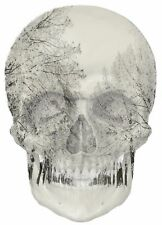 Gothic Skull Double Exposure Yamaha Motorbike View Wall Sticker Mural 386