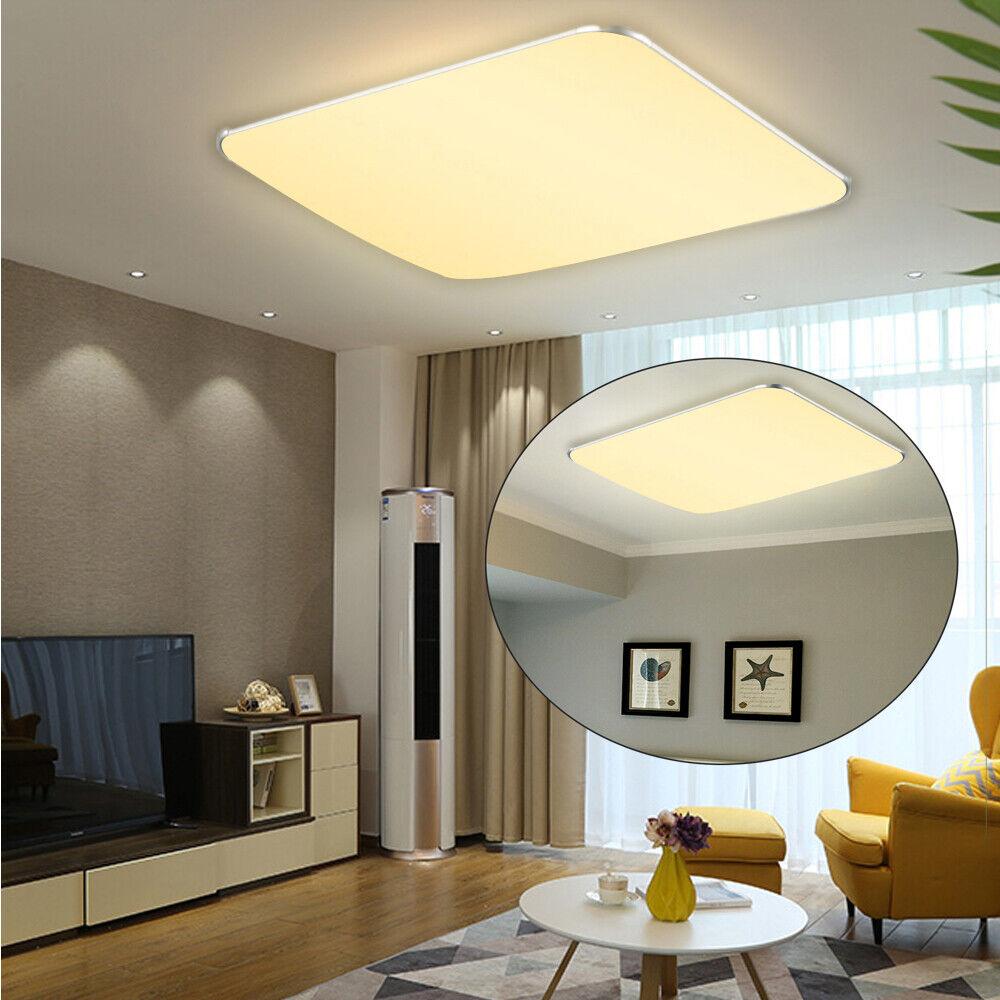 128W Warmweiß LED Deckenlampe Wohnzimmer Panel Deckenleuchte Wandlampe Ultraslim