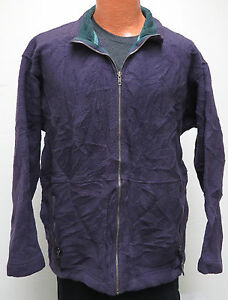 vtg-Patagonia-PURPLE-FLEECE-FULL-ZIP-MED-Jacket-Sweater-90s-green-accents-usa-M
