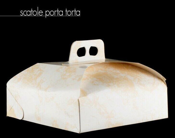 prodotto di qualità MONTEDoro SRL 25 SCATOLA PORTA TORTA TORTA TORTA CARTONE DAMASCATO BIANCO PASTICCERIA 43X43  perfezionare