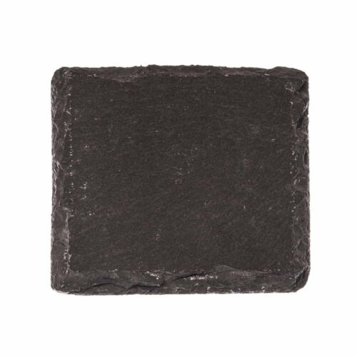 "Stone Age Slate with Soap Stone Chalk 4/""x4/"" coasters Set of 4 Drink Coasters"
