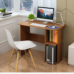 Details About Small Home Office Computer Desk Bookshelf Shelves Laptop Table Study Bookcase Uk