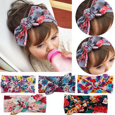 2020 Baby Girl Bunny Rabbit Bowknot Turban Headband Elastic Hair Band Headwrap