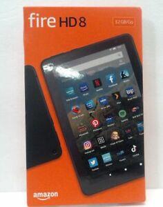 "Amazon Fire HD 8 Tablet 10th Gen K72LL4 8"" 32 GB Black $109"