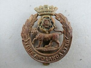 Military-Cap-Badge-The-York-amp-Lancaster-Regiment-British-Army-Infantry