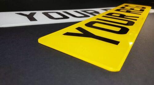 COPPIA Premium MOT Legale Su Strada Auto Van REG registrazione targhe SPEDIZIONE GRATUITA