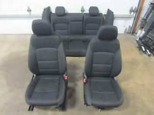 16-18-CHEVY-MALIBU-Front-Seat-Rear-back-Left-Right-Set-Black-Cloth-Head-Rest