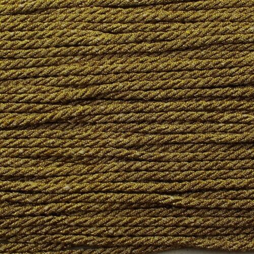 7 COLOUR 3mm Metallic Lurex Cord Barley Twist  Costume Christmas Rope BUY 1 2 4m