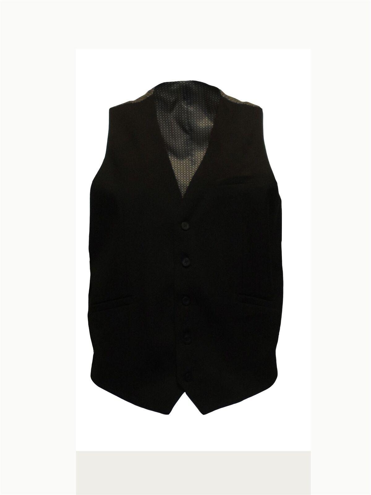 Herren Formell einfach schwarz Weste in Brust Brust Brust Größe 86.4to127cm   Die Qualität Und Die Verbraucher Zunächst  dd7440