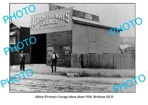 OLD-6x4-PHOTO-ALBION-FIVE-WAYS-GARAGE-QUEENSLAND-BRISBANE-c1926