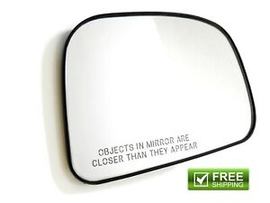 2007-2012 Nissan Versa Left Driver Exterior Side View Mirror Glass OEM NEW