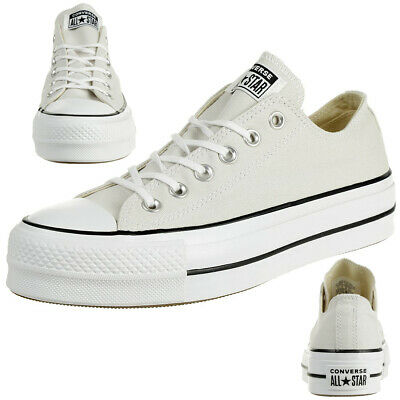Converse C Taylor All Star LIFT CLEAN OX Chuck Sneaker canvas plateau 565502C | eBay