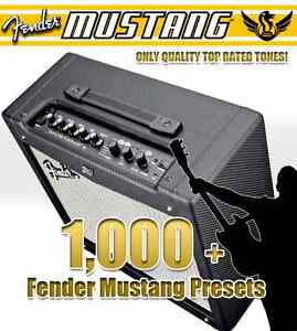 Details about Fender Mustang Amp V1 & V2 - Amplifier Preset Patch  Collection - Quality Tones!
