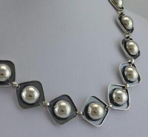 Vintage-Designer-Collier-835er-Silber-ca-40-cm