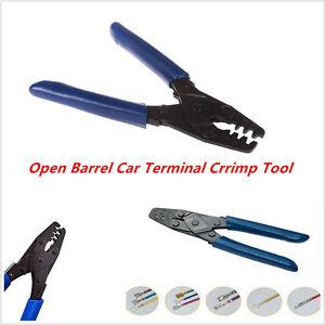 excellent car crimp tool wiring harness crimper dr 1 open barrel 10 22 awg plier ebay