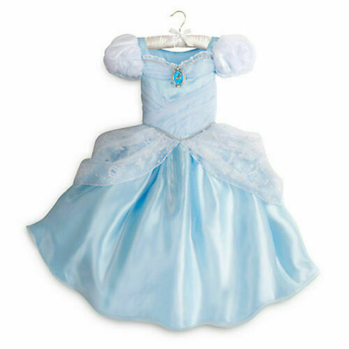 GIRLS SIZE 5-6 CINDERELLA COSTUME DRESS FOR GIRLS DISNEY STORE NWT