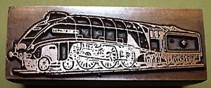 THE-034-FLYING-SCOTSMAN-034-TRAIN-ENGINE-PRINTING-BLOCK