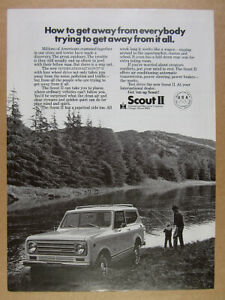 Vintage International Scout Ad Photo Keychain Gift IH Scout