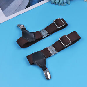 Men's Pair Elastic Sock Suspender Garter Single Clip Hold Up Brace Socks Holders