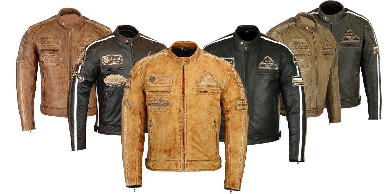 Moto Retro Chaqueta,Vintage,Chaqueta De Cuero Para Hombre,Chaqueta De Moto,