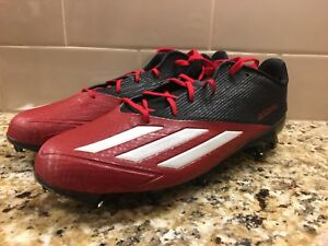 07603e311dc Adidas Men s Adizero 5 Star 5.0 Low Football Cleats Black Red Q16070 ...