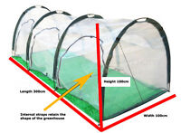 Portable Greenhouse Popup Tunnel 3(l) X 1(w) X 1(h) Metres - Like Igloo Tent
