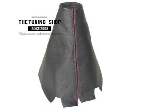 Gear-Stick-Gaiter-For-Mazda-3-2003-09-Leather-Red-Stitching