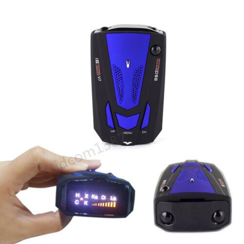 Anti-police GPS Radar Detector 16 Band X K NK Ku Ka Laser VG-2 V7 LED 360° Blue