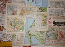 job lot of ephemera, c. 25 pieces, Subject: MAPS