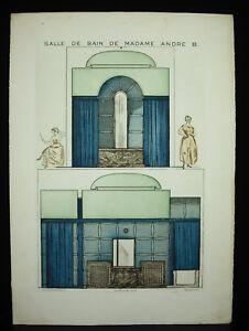 Jacques-Villon-1875-1963-Selten-Art-Deco-Louis-Sue-und-Andre-Mare-Architektur