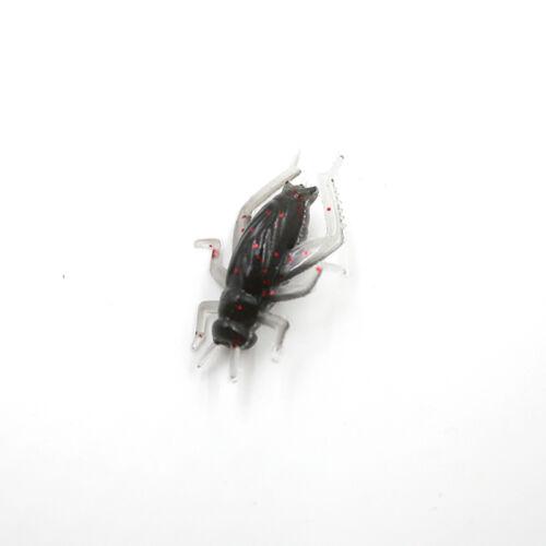 beutel Cricket Angelköder Schwarz Soft Insect Künstliche Köder CJ 10 teile